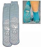 PillowPaws Terries Slip Resistant Socks XX-LARGE (GRAY) (6 pairs)