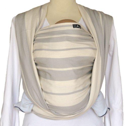 DIDYMOS Woven Wrap Baby Carrier Standard Stripes Grey (Organic Cotton), Size 6