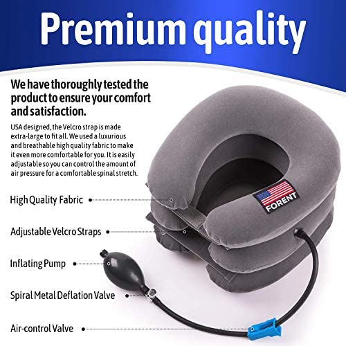 Inflatable Cervical Neck Traction Device  Collar Brace USA Designed Best for Neck Support  Instant