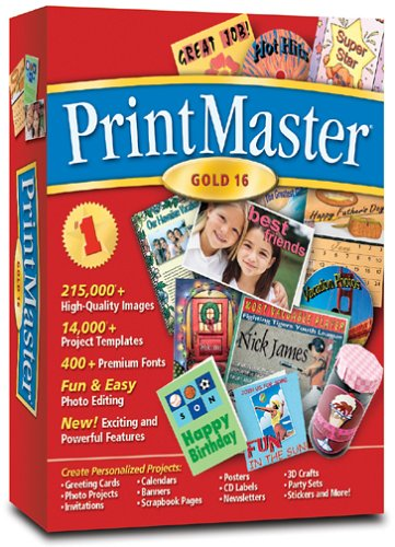 PrintMaster Gold Version 16.0 [OLD - Registration Newsletter
