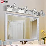 TYDXSD Mirror lights led white light lamp bathroom European style stainless steel mirror mirror lamp modern minimalist bathroom light 300/460/610*110*150mm , 3 head