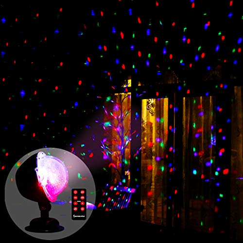 Vanthylit Multi Function Rotating Falling Snow Projector for Xmas Moving Points Landscape Lights for Home Yard Garden and for Wedding Show Club Pub (Best Christmas Light Projector)