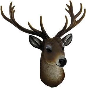 HD Resin Deer Head Wall Mount 14 Point Faux Taxidermy Buck Hanging Sculpture Antler Decor Art