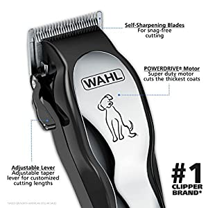 Wahl Clipper Pet-Pro Pet Clipper Dog Grooming Kit for Small/Large Dogs, Thick Coats, Heavy Duty, Cats, Low Noise/Quiet, by The Brand Used By Professionals. #9281-210