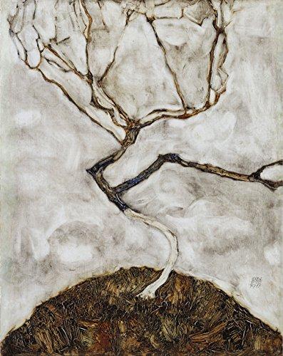 Art Matte Giclee (Egon Schiele - Small Tree in Late Autumn - Google Art Project - Large - Matte - Black Frame Vintage Wall Art Poster Picture Giclee Artwork Modern Contemporary & Fine Art Print)