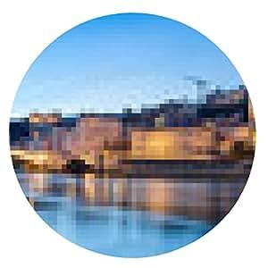 alfombrilla de ratón noche de la ciudad de Lyon - ronda - 20cm
