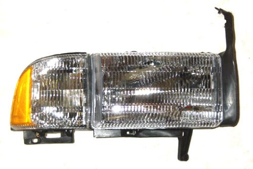 OE Replacement Dodge Pickup Passenger Side Headlight Assembly Composite (Partslink Number CH2503101)