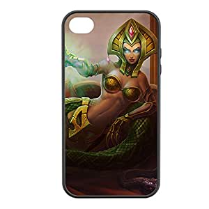 Cassiopeia-001 League of Legends LoL case cover for Apple iPhone 4 / 4S - Rubber Black