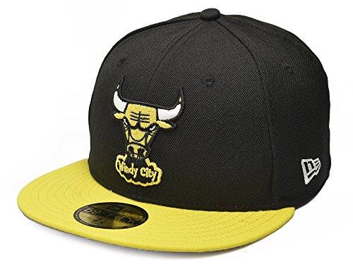 New Era 59FIFTY Chicago Bulls NBA HWC Basic Cap Black/Yellow Size 7 3/4