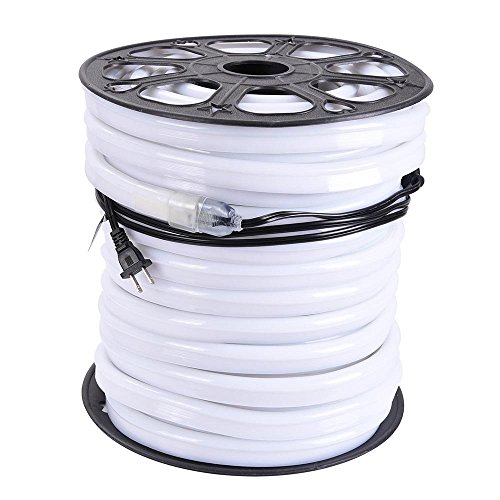 DELight 150 Ft 110 Volts Cool White Flexible LED Neon Rope Tube Light Power Cords for Indoor Outdoor Garden Holiday Valentines Party Decor Lighting by Generic (Image #4)