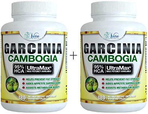 Pure Garcinia Cambogia 95% HCA - Extract Slim Maximum Strength Formula to Reduce Appetite & Lose Weight Faster Than Ever Plus Garcinia Cambogia Weight Loss E-Book (180 Count (2 Pack)) by Island's Miracle (Image #9)