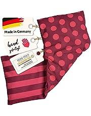 Asigo kersenpitkussen 3 kamers warmtekussen 17 x 48 cm van katoen, veiliger en flexibeler dan warmteflessen, Duitse fabrikant