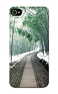 Judasslzzlc Anti-scratch And Shatterproof Japan Bamboo Path Phone Case For Iphone 5/5s/ High Quality Tpu Case