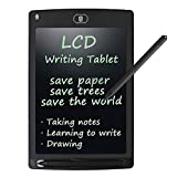 LCD Writing Tablet, Rantizon 8.5-Inch LCD Drawing Board with Stylus Electronic Writing Pad One Touch Clear Paperless Doodle Pad eWriter Graffiti Business Office Memo Board Digital Drawing Notepad