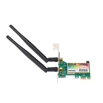 SODIAL Tarjeta WiFi AC 1200Mbps BT4.0 Tarjeta de Adaptador de Rojo ...