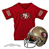 football 49ers helmet - Franklin Sports NFL San Francisco 49ers Replica Youth Helmet and Jersey Set