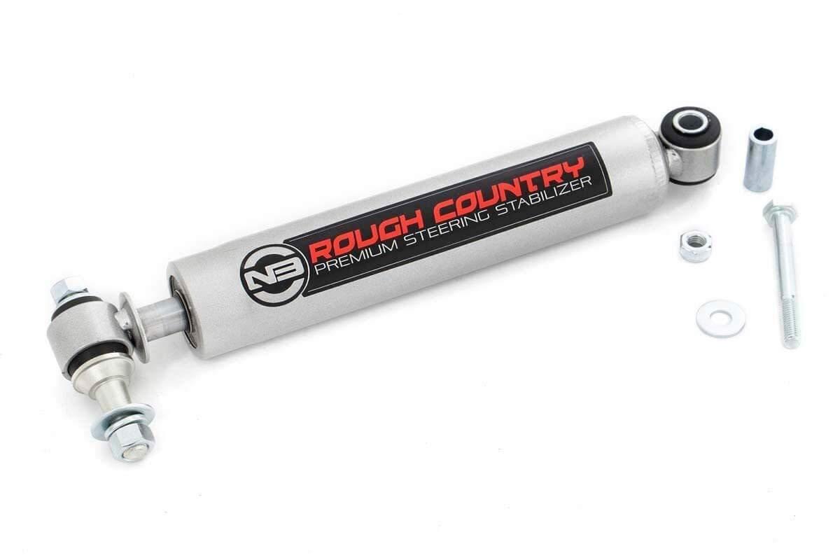 Rough Country N3 Steering Stabilizer fits 87-06 Jeep Wrangler TJ YJ Cherokee XJ ZJ | 02-10 Silverado Sierra HD | 8731730