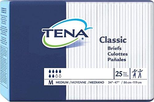 TENA Classic Brief Medium 34 - 47 (Bag of 25) by SCA