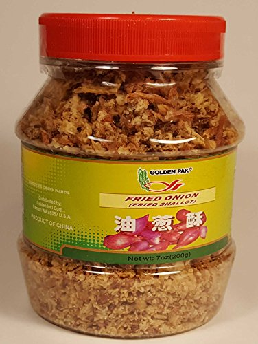 Golden Pak Fried Onion Shallot 7oz (200g) Plastic Jar Asian Cooking Savory Condiment