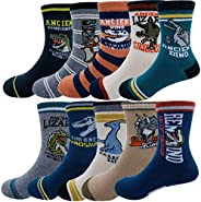 Kids Boy's Fashion Cartoon Dinosaurs Pattern Sport Socks 10 P