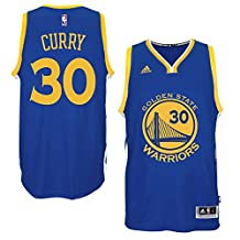 30 Stephen Curry Golden warriors Mens Road Swingman Jersey Royal color Size M