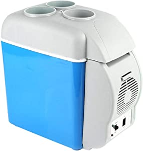 Compact Electric Car Cooler Freezer, 12V 38W 7.5L Portable Mini Fridge Refrigerator with Warmer for Beverage Beer Seafood Fruits, for Car Travel Camping