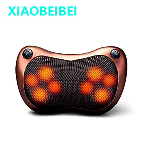 Double bond 8 Deep-Kneading Massage Nodes Neck and Back Massage Pillow with Infrared Heat Function For Home and Car (XIAOBEIBEI) ()