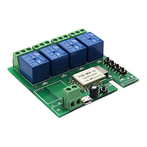 5V DIY Four Channel Jog Inching Self-locking WIFI Wireless Smart Home Switch by SPS_IN