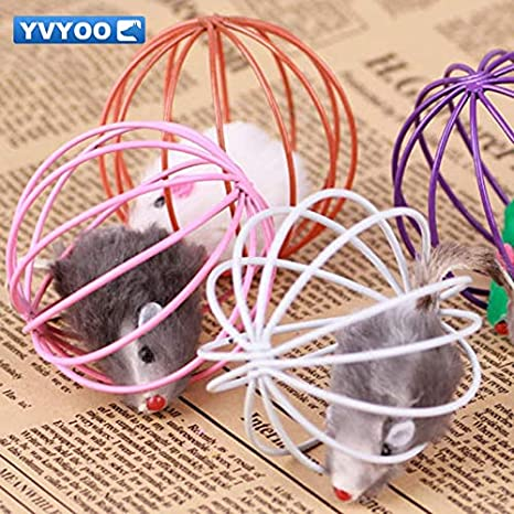 Amazon.com : Best Quality Lovely Household pet Supplies Interesting pet cat Toys Simulation Iron Mouse cage Ball 1 pcs d08 : Pet Supplies