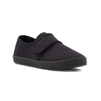 458f35be258f Walkright Kids Black Touch Fasten Plimsoll - Size 7 Child UK - Black ...
