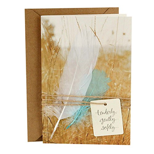 Hallmark Signature Sympathy Greeting Card (Remembrance Angel Feathers)