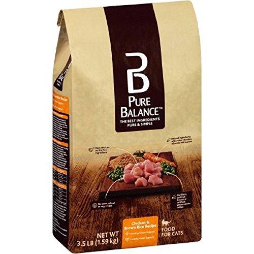Pure Balance Chicken & Brown Rice Recipe Cat Food, 3.5 lbs