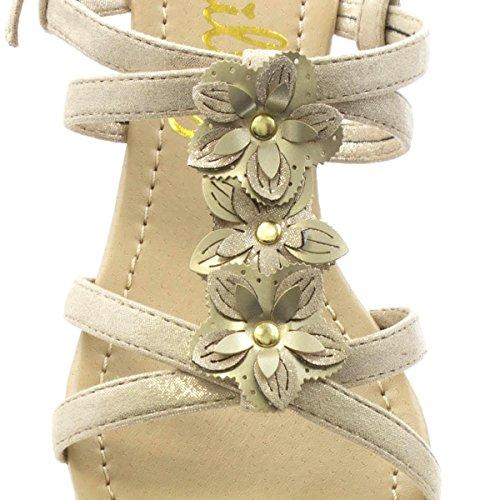 Beige Moulantes Lilley Des Femmes Fleur Beige Coin De Sandale APHO1