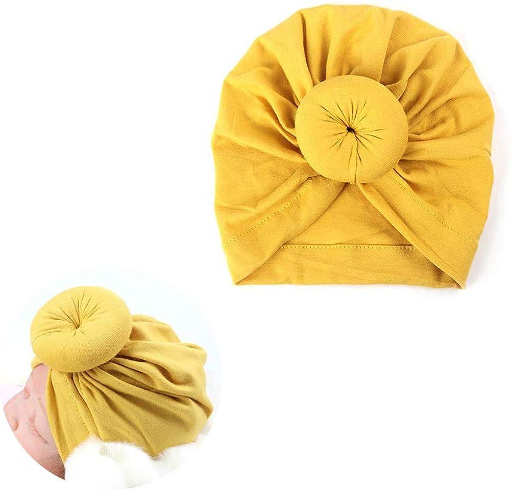 Cappello Donut Bambini Foulard Cappello del Cotone di Colore Solido del Annodata con Cappuccio Donut per I pi/ù Piccoli