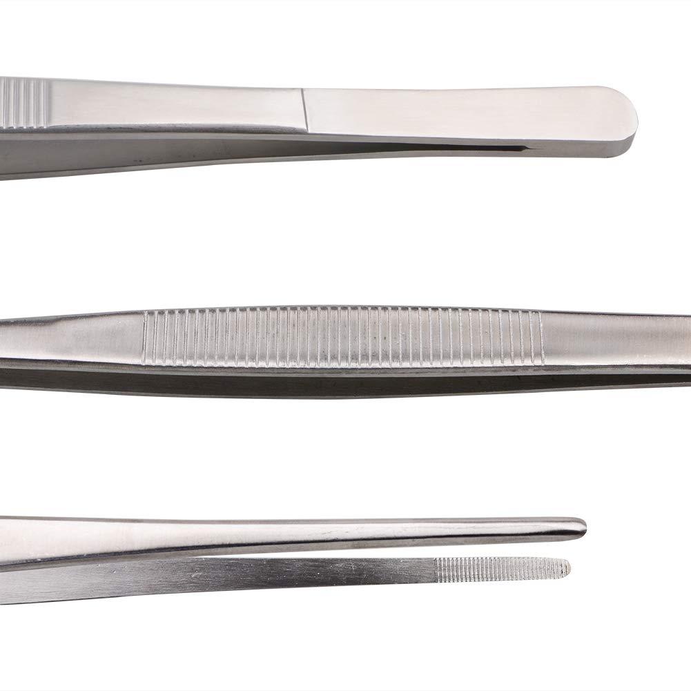 Rivoean 12-Inch Fine Tweezer Tongs,Extra-Long Stainless Steel Tweezers Tongs