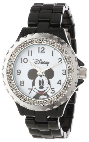 Disney Women's W000501 Mickey Mouse Enamel Sparkle Bracelet Watch ()
