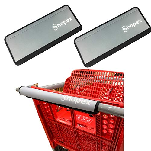 Shopping Cart Handle Cover by Shopex Cover for Grocery Cart Buggy and Trolley Handles | Safe for Adults Babies and The Environment | Eco-Friendly and Reusable | 16 Inches Long | Grey | 2 Pack / Shopping Cart Handle Cover by Shopex ...