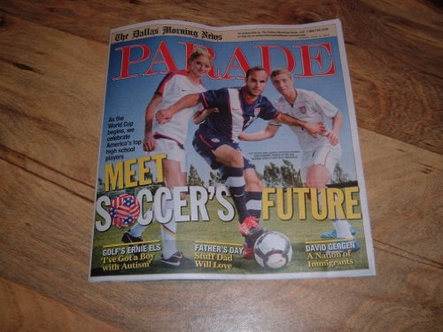 Donovan Soccer Us - Landon Donovan, U.S. Soccer Team, World Cup-Parade Magazine, June 13, 2010.