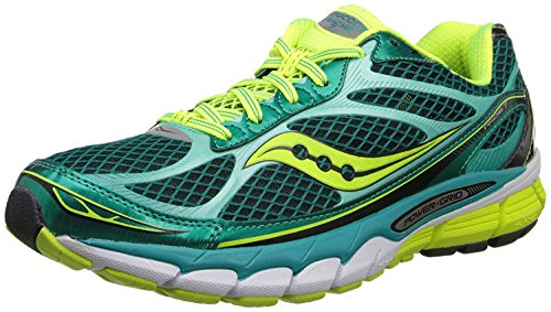 Saucony Womens Ride 7 Running Shoe, Green/Citron, 38 B(M) EU/5 B(M) UK