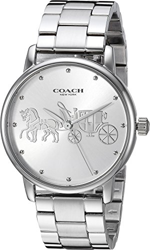 COACH Women's Grand Silver One Size (Womens Coach Watches Silver)