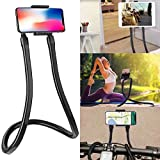 Lazy Neck Phone Holder and Tablet Universal Stand Hanging on Neck DIY 360 Degree Rotating Bracket Gooseneck Mount with Multiple Functions New and Improved Design for Smartphone and Tablet 2 in 1