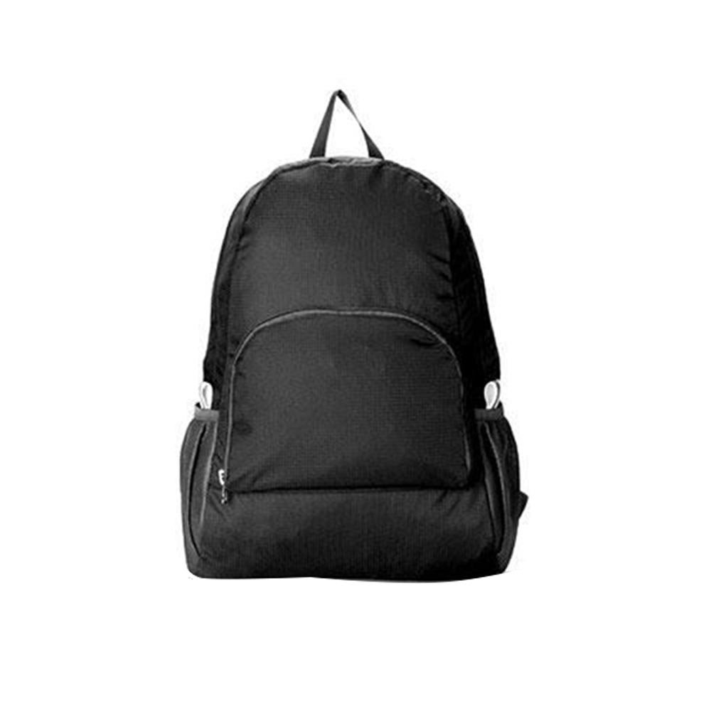 TOPmountain Unisex Daily Foldable Outdoor Sports Waterproof Backpack Hiking Colors Bag Camping Rucksack Black