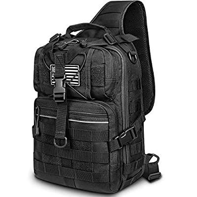 G4Free Tactical Sling Backpack Big Molle EDC Range Bag Pack
