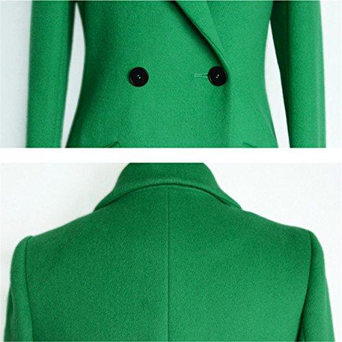 invierno Prendas Lana Chal de ❤️ de fiesta para Manga Longra Chaqueta Outwear de de para mujer Elegante mujer Verde casual larga abrigo Cárdigan larga RYwnRxvIt