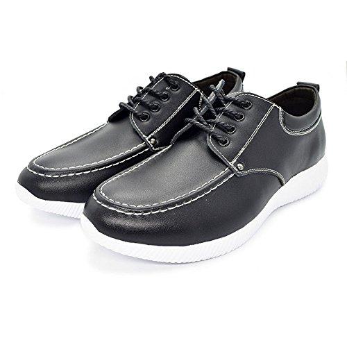 Eagsouni® Ultra Ligero Zapatos de Cuero Casual Planos Zapatos con Cordones para Hombre