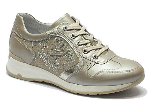 en beige femme Savana Nero nacré pour chaussures cuir Ivoire Giardini Perl gExSBqZwp