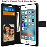 Foso Back Cover for iPhone 6 Plus and 6S Plus (Black )