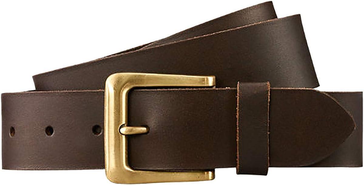 Timberland Mens Genuine Leather Dark Brown Belt