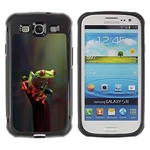 Suave TPU GEL Carcasa Funda Silicona Blando Estuche Caso de protección (para) Samsung Galaxy S3 III I9300 / CECELL Phone case / / Reflective Green Poison Nature /