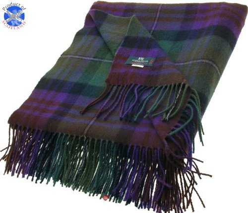 Lochcarron of Scotland Isle of Skye Tartan Lambswool Throw - Tartan Lambswool Throw